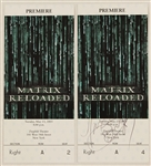 "Janet Jackson Signed ""Matrix Reloaded"" Premiere Ticket/Janet Jackson Original ""All For You"" Promotional Poster"
