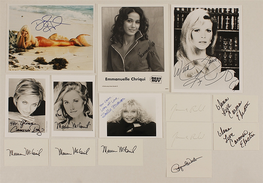 Hollywood Actors & Actresses Signed Photograph and Card Archive