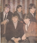The Yardbirds with Jeff Beck Signed Magazine Picture