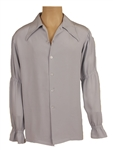 Elvis Presley Owned & Worn IC Costume Co. Pale Blue-Grey Bell-Sleeved Shirt
