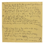 "Beach Boys Brian Wilson ""Catch A Wave"" 1963 Handwritten Working Lyrics"