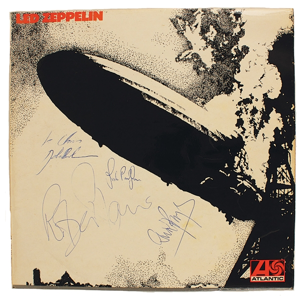 Led Zeppelin 1970 Signed Self-Titled Debut Album