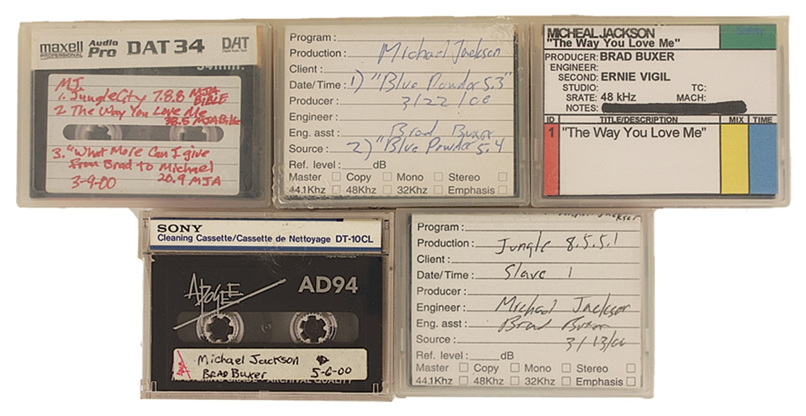 Michael Jackson Collection of Unreleased Songs from His Last Recording Sessions and His Personal Playback Machine