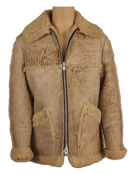 Elvis Presley Owned & Worn Suede Shearling Coat