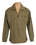 Elvis Presley Owned & Worn Custom Green Suede Pullover Top