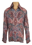 Elvis Presley Owned & Worn IC Costume Co. Paisley Shirt