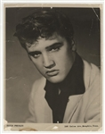 Elvis Presley Original Portrait Photograph Signed on the Verso by Elvis, D.J. Fontana, Bill Black and Cowboy Copas