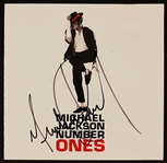 "Michael Jackson Signed ""Number Ones"" C.D. Insert"