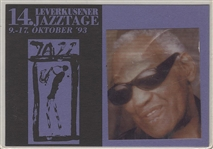 Ray Charles Personally Owned & Used 1993 Jazzstage Concert Pass