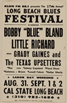 "Long Beach Blues Festival Original Concert Poster Featuring Little Richard and Bobby ""Blue"" Bland"