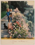 Princess Grace of Monaco Signed Picture with Princess Caroline and Prince Albert
