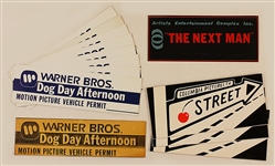 Original Movie Vehicle Placards: Dog Day Afternoon, The Next Man, Cherry Street