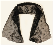Jimi Hendrix 1967 Owned & Worn Black Lace Scarf