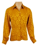 Prince Stage Worn Gucci Long Sleeved Gold Silk Shirt