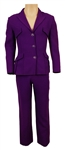Prince Owned & Worn Gianni Versace Couture Purple Suit