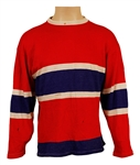 Jerry Garcia Owned & Stage Worn Red Sweater with Blue & White Stripes