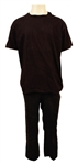 Michael Jackson Owned & Worn Black T-Shirt and Pants