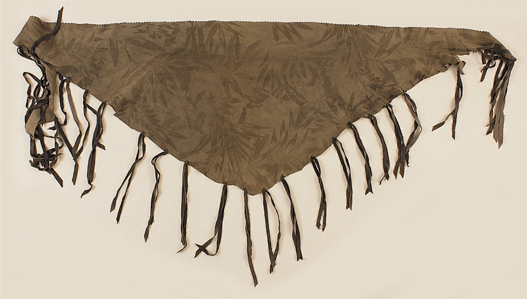 Jimi Hendrix Owned & Worn Fringed Taupe Scarf