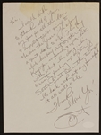 Janet Jackson Handwritten and Signed Letter
