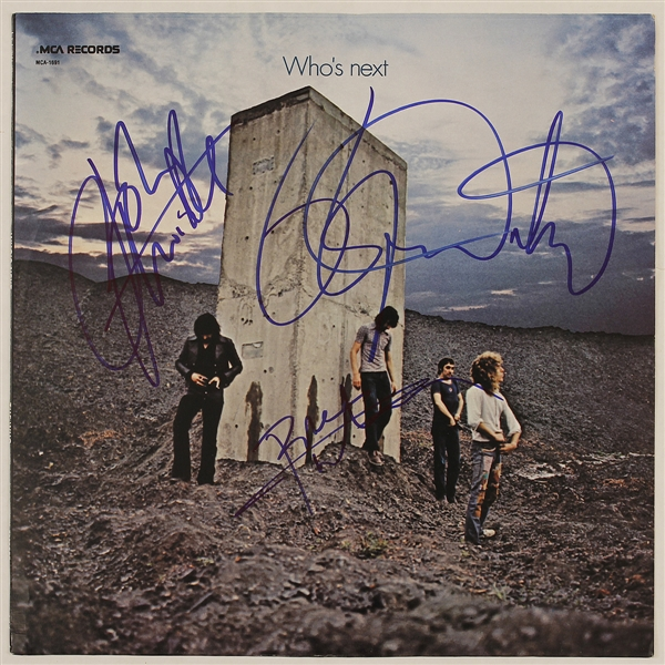 "The Who Signed ""Whos Next"" Album Flat: Daltrey, Townshend, Entwistle"