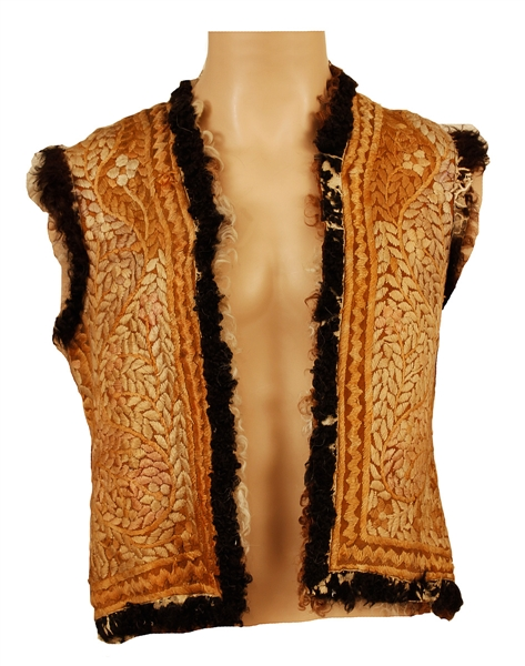 Jimi Hendrix Owned and Concert Worn Historic Custom Embroidered Vest