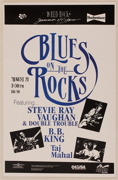 Stevie Ray Vaughan & Double Trouble Concert Poster