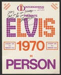 Elvis Presley Twice-Signed and Inscribed Las Vegas International Hotel Flyer