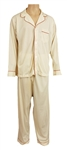 Elvis Presley Owned & Worn Munsingwear Ivory Pajamas with Piping