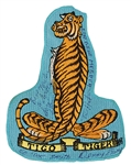 Elvis Presleys Personally Owned, Worn and Signed & Inscribed Tiger Patch from the Dottie Rambo Collection