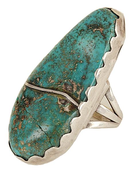 Elvis Presleys Owned & Worn Turquoise Ring from the Dottie Rambo Collection