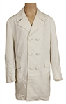 Elvis Presley Owned & Worn White Double-Breasted Poplin Coat