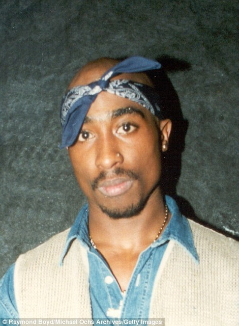 lot detail tupac shakur owned worn blue bandana do rag