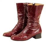 Elvis Presley Owned & Worn Burgundy Patent Leather Boots
