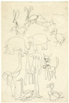 Stuart Sutcliffe Original Hand-Drawn Sketch