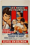 "Elvis Presley ""Change of Habit"" Original French Movie Poster"