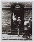 "John Lennon Signed ""Rock N Roll"" Album Cover Photograph From Derek Taylor Authenticated By Frank Caiazzo"