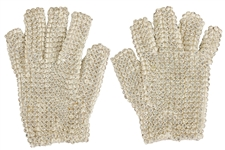 Michael Jacksons First Prototype Bill Whitten Left Hand and Right Hand Crystal Gloves
