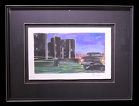"Bob Dylan Signed ""Rooftop Parking Lot"" Original Painting"