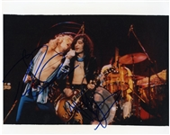 Robert Plant & Jimmy Page Signed Photograph