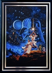 "Greg Hildebrandt Original ""Star Wars: A New Hope"" Movie Poster Painting Recreation"