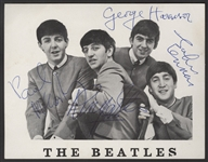 Beatles Signed Original 1963 Autographed Fan Club Picture Authenticated By Frank Caiazzo