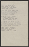 "INXS Michael Hutchence ""Stay Young"" Handwritten Working Lyrics"