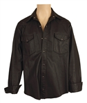 Lou Reed Worn and Signed Black Leather Shirt