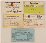 Sammy Davis, Jr. Personal Harrahs Credit Card and Other Personal Cards