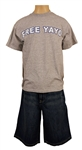 "Eminem Stage Worn ""Free Yayo"" T-Shirt and Shady Ltd. Denim Shorts"