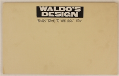 "Paul McCartney & Wings ""Back to the Egg"" Original Waldos Design Postcard and Card Backs Artwork"