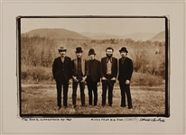 "The Band Original 16 x 22 Elliott Landy Twice-Signed ""Music From Big Pink"" Album Photograph"