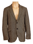 James Brown Owned & Worn Black & White Herringbone Wool Jacket