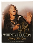 Whitney Houston Signed Over-Sized Program From Her Last Tour