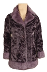Prince Owned & Worn Purple Faux Fur Jacket